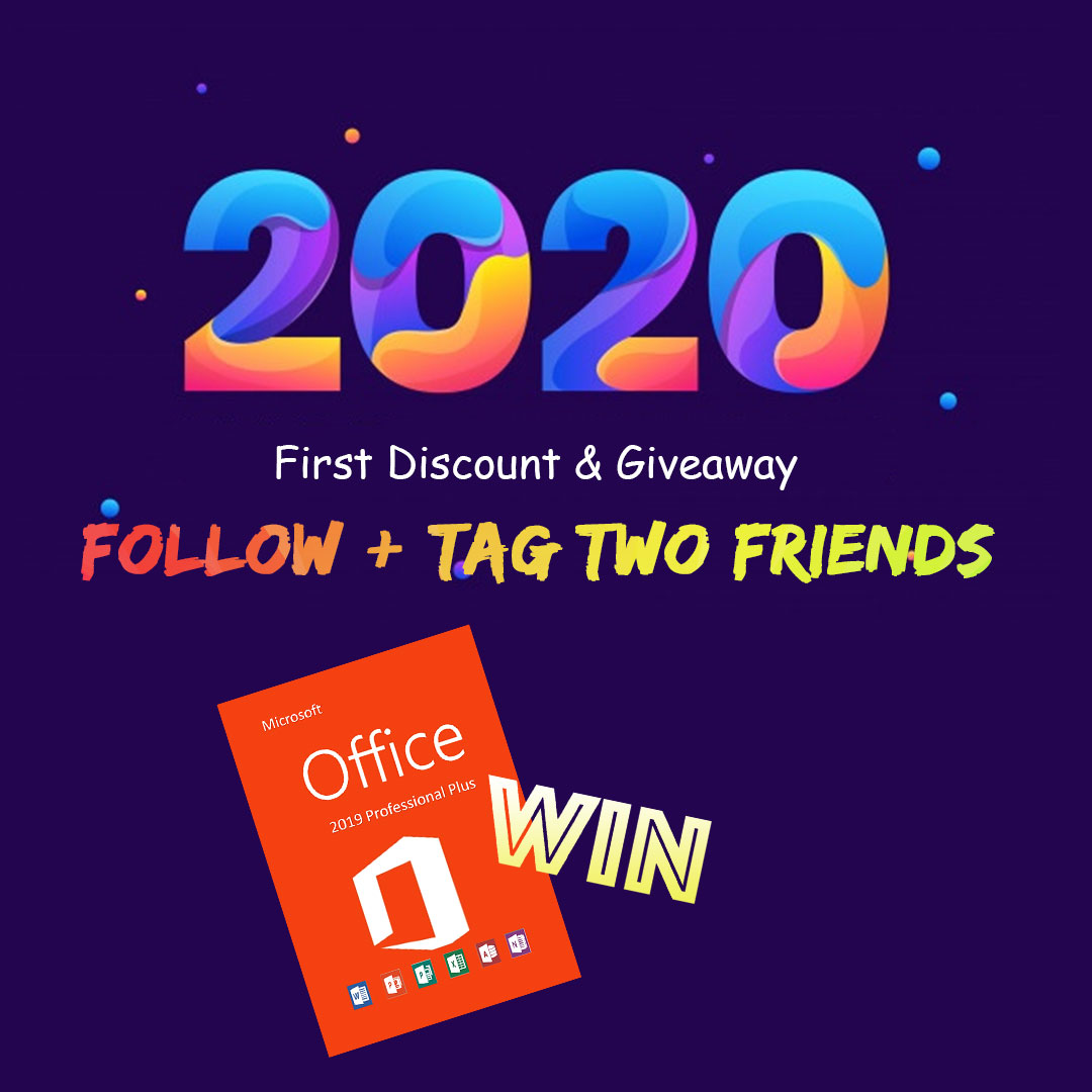 2020  First Discount & Giveaway