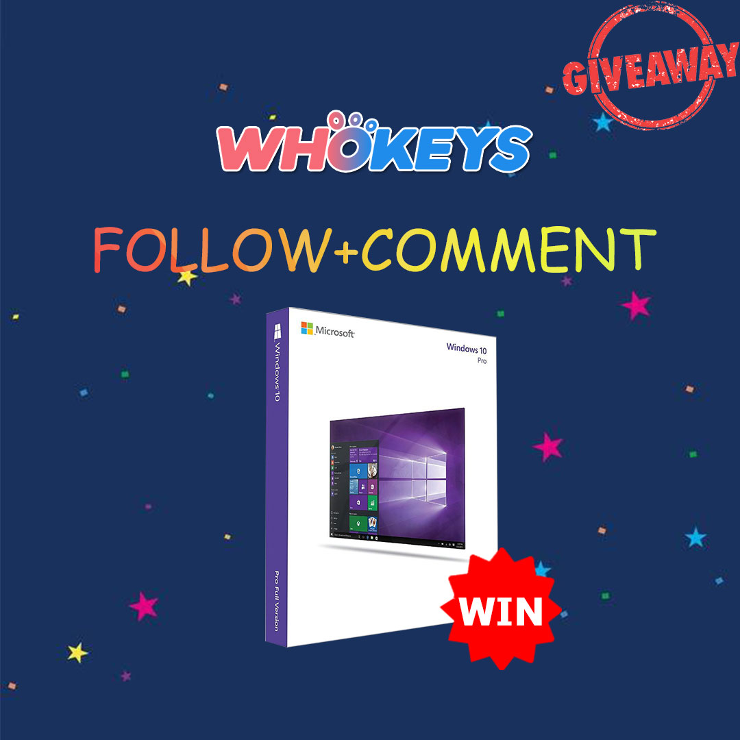 Whokeys Windows 10 Professional Giveaway