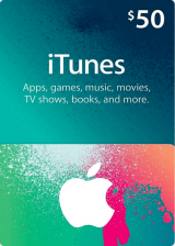 whokeys.com, Apple iTunes Gift 50 USD