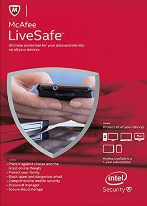 McAfee Livesafe 2017 Unlimited Devices 1 YEAR Global