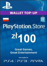 whokeys.com, Play Station Network 100 PLN PL
