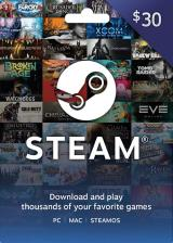 whokeys.com, Steam Gift Card 30 USD