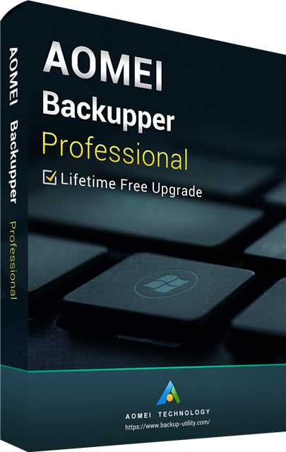 AOMEI Backupper Professional + Free Lifetime Upgrades 5.7 Key Global