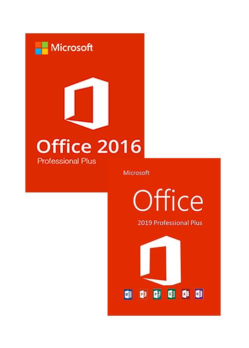 Office 16 Professional Plus + Office 19 Professional Plus CD Key Pack