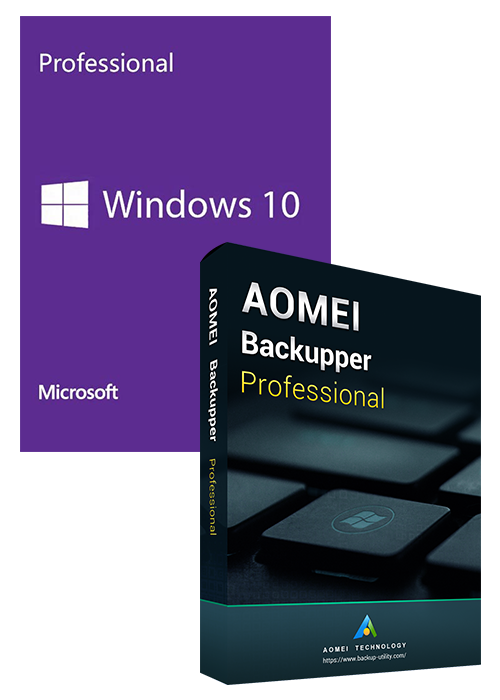 Windows10 PRO OEM+AOMEI Backupper Professional 5.7 Edition Key Global