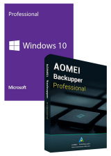 Official Windows10 PRO OEM+AOMEI Backupper Professional 5.7 Edition 365 Days Key Global