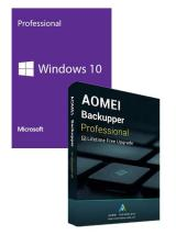 Official Windows10 PRO OEM+AOMEI Backupper Professional + Free Lifetime Upgrades 5.7 Key Global
