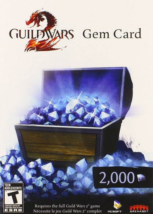 Guild Wars 2 2000 Gem Card Global